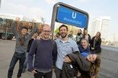 Exiting the U-Bahn during a LGBTQ Studies trip to Berlin!